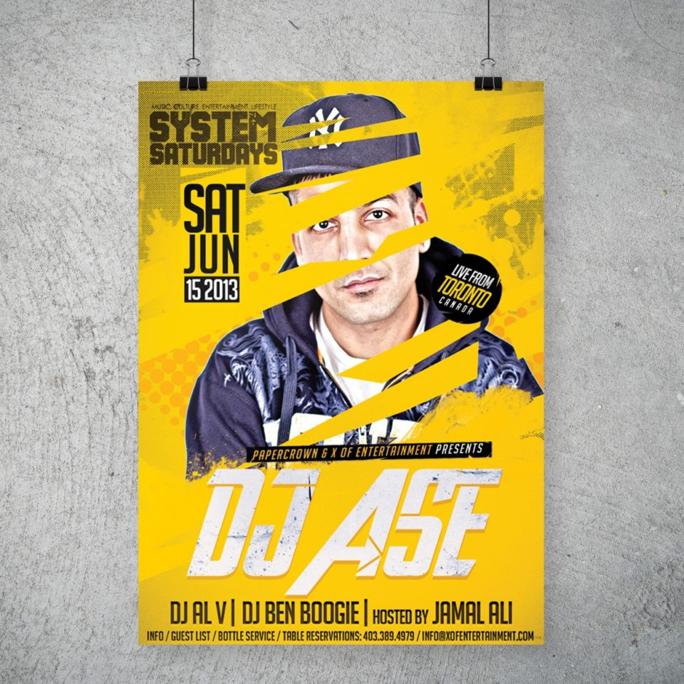 DJ Ase Party Poster