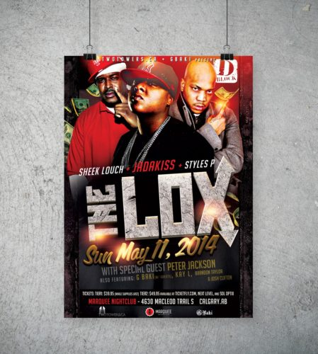 The Lox Concert Poster