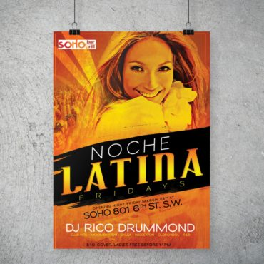 DJ Rico Drummond Noche Latina Party Poster
