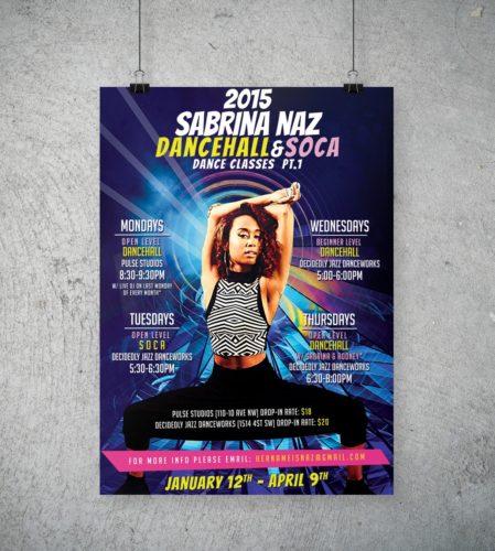 Sabrina Naz Dance Class Poster