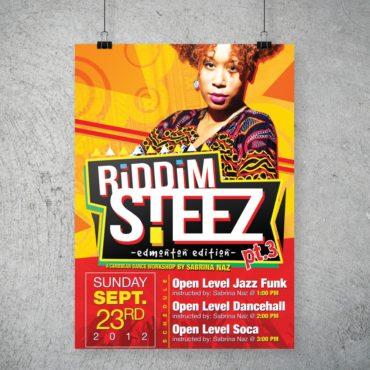 Sabrina Naz Riddim Steeze Poster
