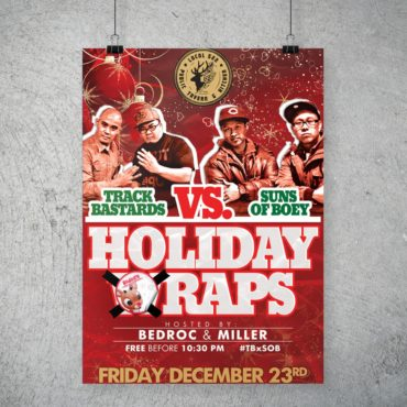 Track Bastards vs Suns Of Boey Holiday Raps Poster