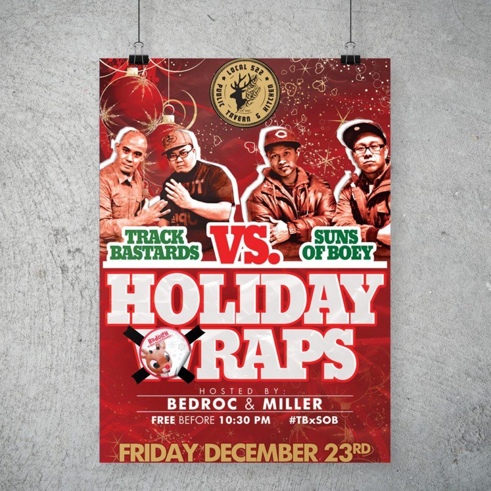 Track Bastards vs Suns Of Boey Holiday Raps Poster