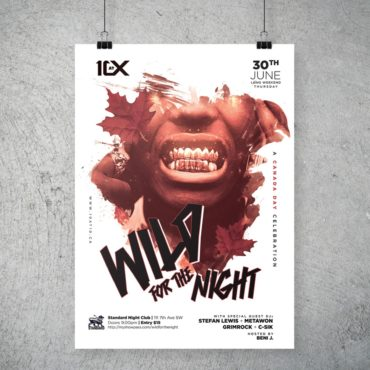Wild For The Night Party Poster