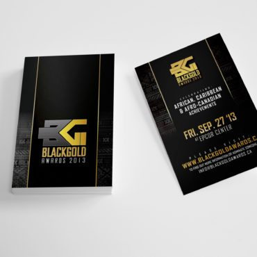 Black Gold Awards Business Card