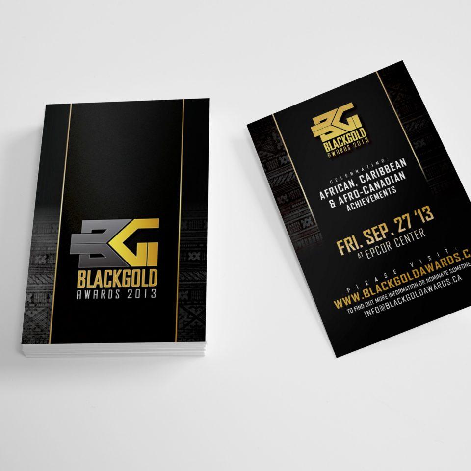Black Gold Awards Business Card