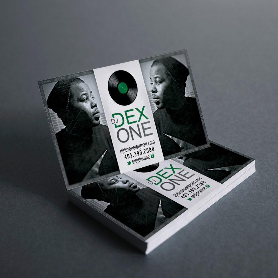 DJ Dex One Business Card