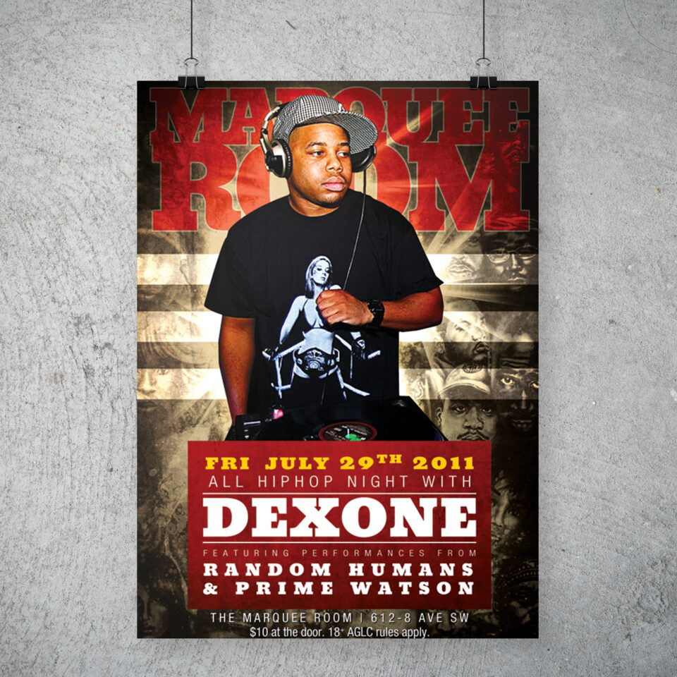 DJ Dex One party poster