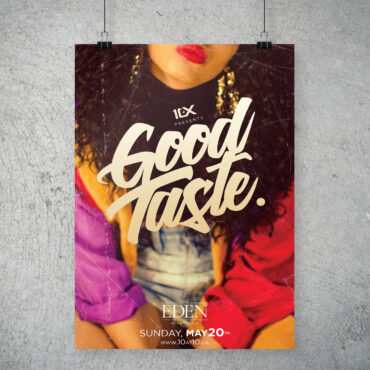 10 at 10 – Good Taste party poster