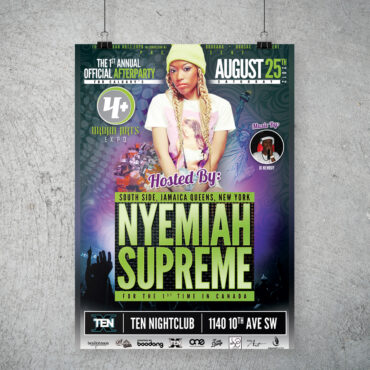 Nyemiah Supreme Afterparty Poster