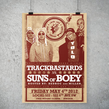 Trackbastards vs. Suns of Boey poster