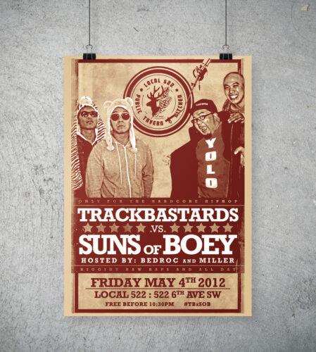 Trackbastards vs. Suns of Boey poster